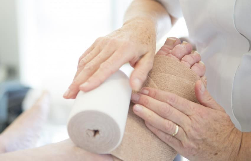 Caring for Lymphoedema, Image from JerseyHospicecare.com